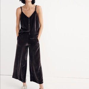 Madewell Velvet Pull-on pants